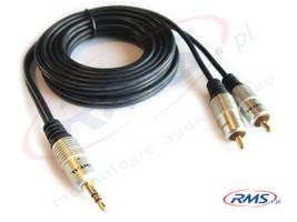 Kabel połączeniowy jack stereo-2xRCA - Digital (D-J2R150) HQ - 15m