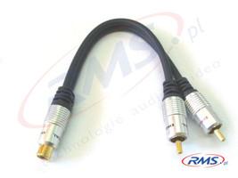Rozdzielacz RCA-2xRCA do subwoofera Digital (D-2WR02) - 0,2m