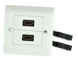 Gniazdo 2xHDMI naścienne podwójne kwadratowe podtynkowe z przewodem G2HD-KW (PL standard)