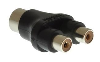 Milty CC121 Przejściówka adapter DIN-2xRCA (cinch) (MI0222)