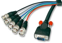 Kabel do monitora VGA (D-Sub) - 5xBNC (RGB HV, RGBHV) Lindy 33203 - 3m