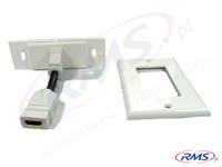 Gniazdo HDMI naścienne, pojedyncze (G1HD) standard Decora