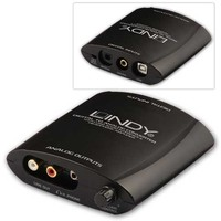 Lindy 20376 Konwerter cyfrowo analogowy DAC (SPDIF Toslink-Coaxial-USB-> 2xRCA - jack 3,5mm)