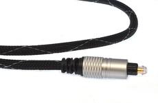 Kabel optyczny TOSLINK Digital metalowe wtyki (D-MTT10) - 1m