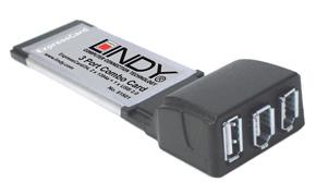 Karta ExpressCard 34 z FireWire oraz USB - dodatkowe wejścia dla Twojego laptopa - Lindy 51501