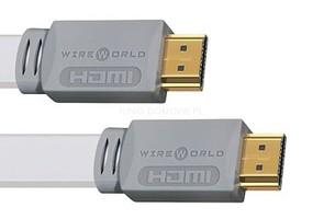 Kabel cyfrowy HDMI - HDMI 1.4 płaski cat2 kanał ethernet, 3D Wireworld Island 7 HDMI - 0,3m
