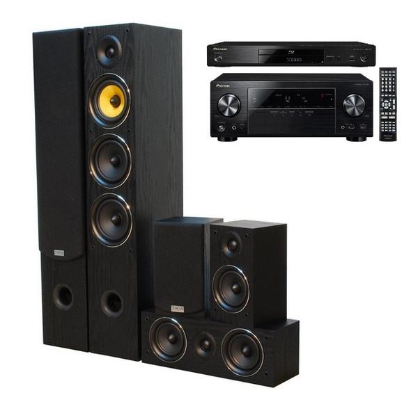 Zestaw kina domowego 5.0 Pioneer VSX-528 i Blu-ray 3D BDP-160 + kolumny Taga TAV-506v.3