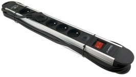 Bridge Premium BPS6030U Listwa zasilająca 6 gniazdowa z ładowarką USB - 3m