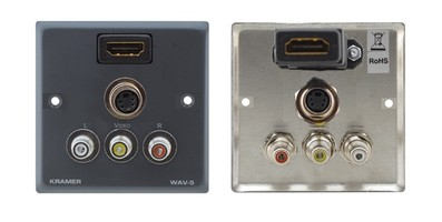 Gniazdo naścienne (hdmi, composite, audio, s-video) Kramer WAV-5HDMI
