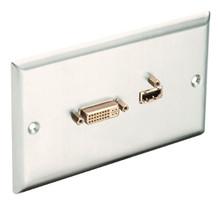 Gniazdo naścienne HDMI + DVI Lindy 60525