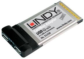 Karta USB - dodatkowe 2 wyjścia USB 2.0 dla Twojego laptopa - Lindy 51330