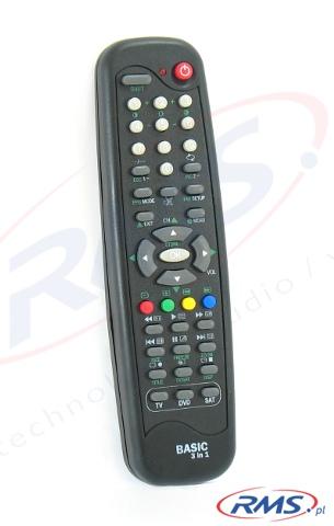 Pilot uniwersalny Elmak Basic 3 in 1 do obsługi 3 urządzeń (TV, DVD, SAT)