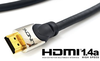 Lindy 41401 kabel HDMI 1.4 a High Speed Cat2 Ethernet, 3D  - 1m