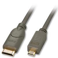 Lindy 41342 Kabel cyfrowy (typu D) micro HDMI - (typu C) mini HDMI - 1,5m
