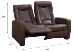 Podwójna sofa kinowa z funkcją relaksu (skóra naturalna 100%) oraz funkcją 4D