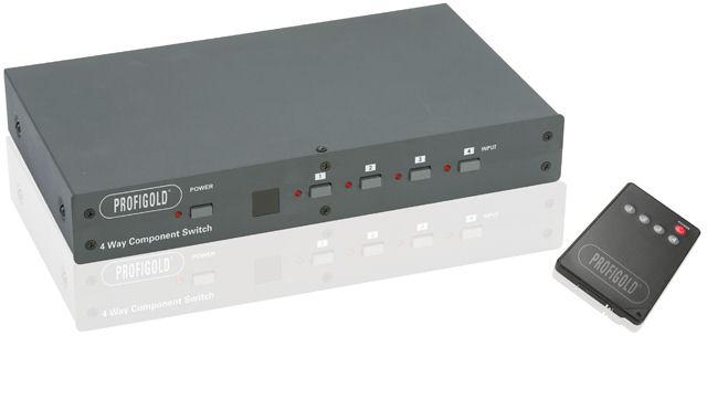 Switch (przełącznik) Component Video + Audio (4xIN-1xOUT) Profigold PGVS33004 Polska Gwarancja