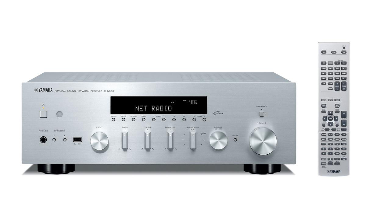 Yamaha R-N500 (RN500) Amplituner stereo z radiem internetowym Kolor: Jasny Polska Gwarancja