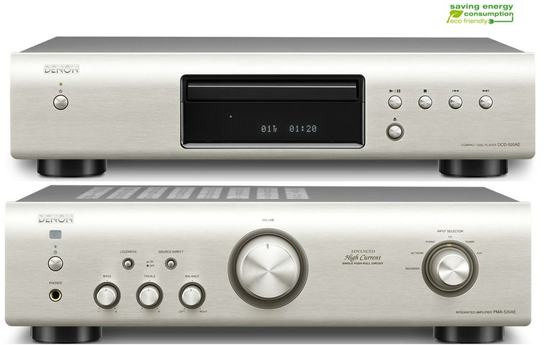 Denon PMA-520AE i CD DCD-520AE Zestaw stereo Polska Gwarancja