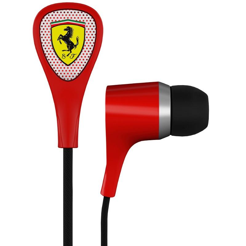 Ferrari S100i Scuderia by Logic3 Słuchawki dokanałowe z mikrofonem iPod, iPhone, iPad Polska Gwarancja