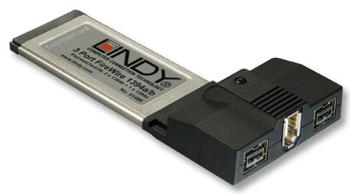 Karta FireWire - 3 porty 400 i 800 ExpressCard/34 Lindy 51499 Polska Gwarancja