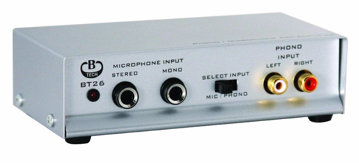 B-Tech BT 26 (BT26) Przedwzmacniacz gramofonowy MM, mikrofonowy   Polska Gwarancja