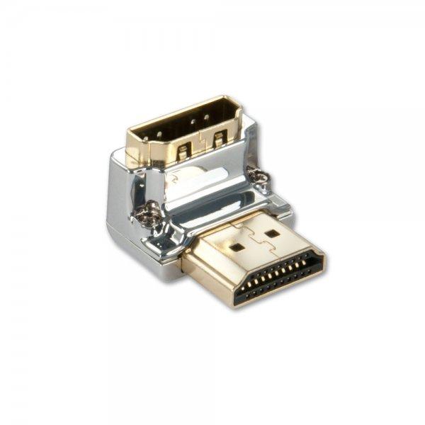 Lindy 41505 Przejściówka (łącznik) kątowy dolny gniazdo HDMI - wtyk HDMI Polska Gwarancja