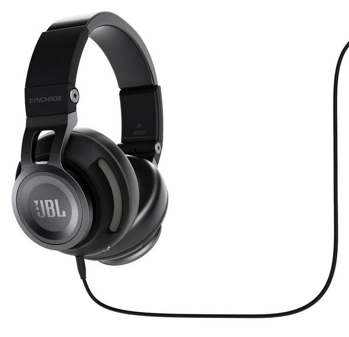 JBL S-500 (S500) Synchros Słuchawki nauszne z uniwersalnym sterowaniem do Android i iOS Kolor: Czarny Polska Gwarancja