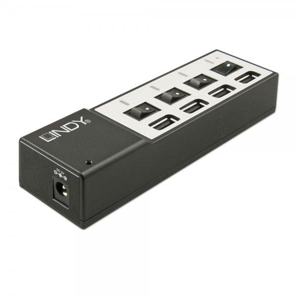 Lindy 73384 - 4 portowa ładowarka USB Polska Gwarancja