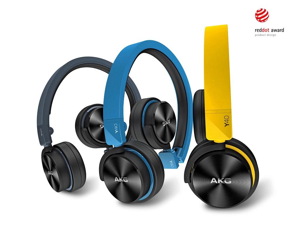 AKG Y 40 (Y40) słuchawki nauszne zamknięte przenośne Kolor: Czarny Polska Gwarancja