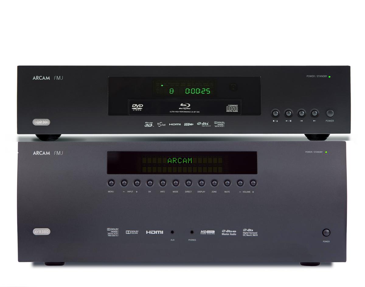 [Zestaw] Arcam AVR380 (AVR-380) - Amplituner kina domowego + Arcam FMJ BDP 300 (BDP300) odtwarzacz płyt 3D/Blu-ray/DVD/CD Polska Gwarancja