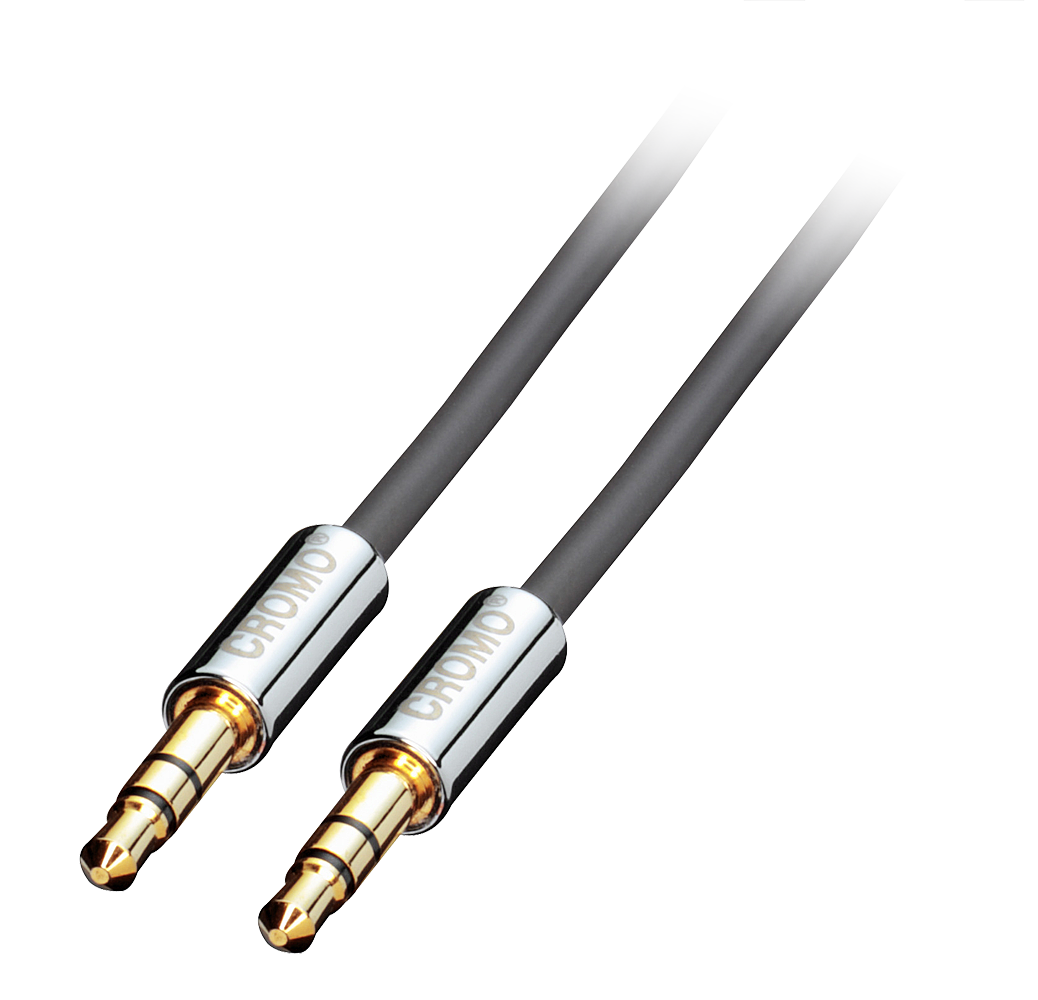 Lindy 35300 (CROMO) - Kabel jack 3,5mm stereo - jack 3,5mm stereo - 0,5m Polska Gwarancja