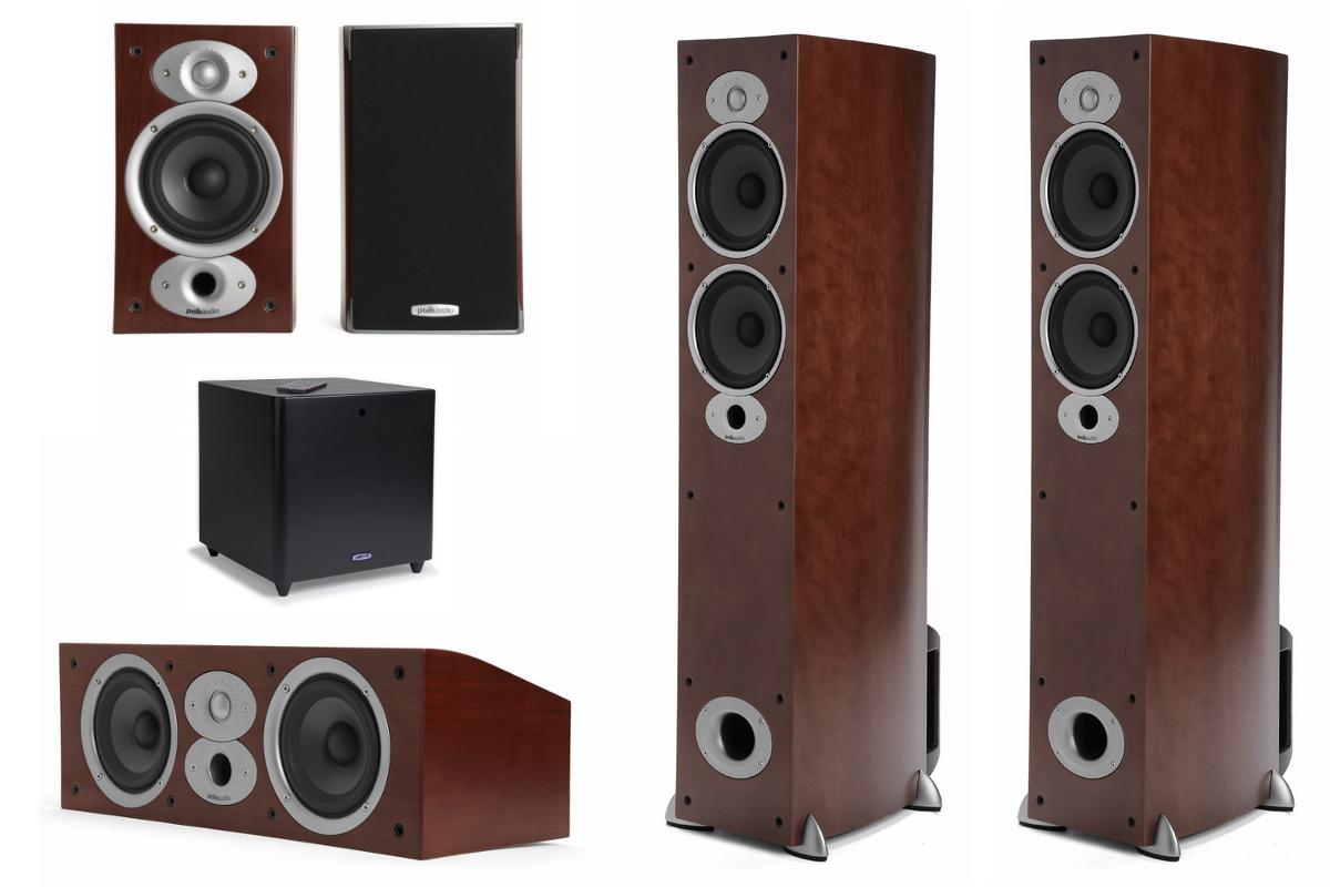 Polk Audio RTi A5HCSub (A5 HC Sub): RTi A5 + CSi A4 + RTi A1 + DSW PRO 440 Zestaw kolumn do kina domowego 5.1 Polska Gwarancja