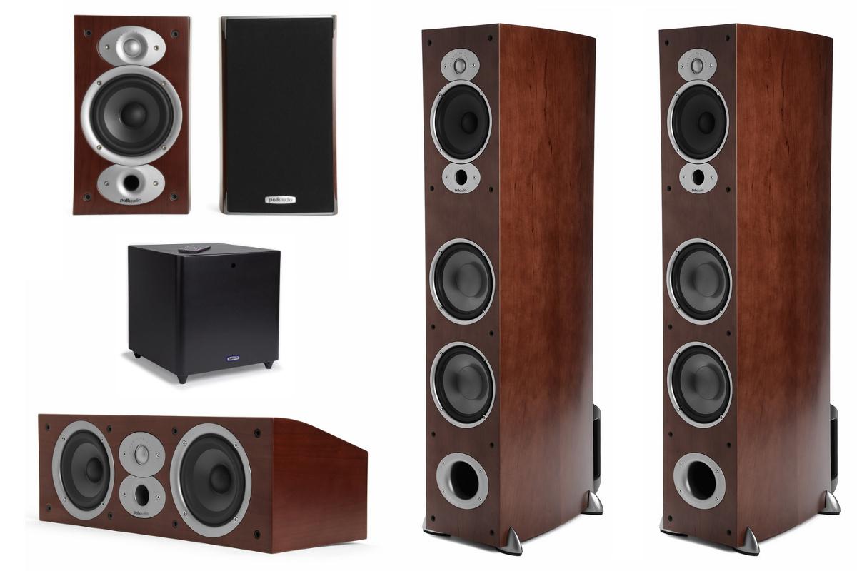 Polk Audio RTi A7HCSub (A7 HC Sub) : RTi A7 + CSi A4 + RTi A1 + DSW PRO 440 Zestaw kolumn do kina domowego 5.1 Polska Gwarancja