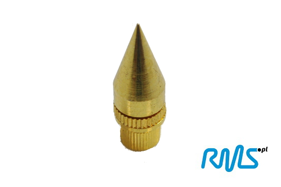 Kolce głośnikowe (stożki) ostre złote wys. 38mm (70B) - 1 szt. Polska Gwarancja