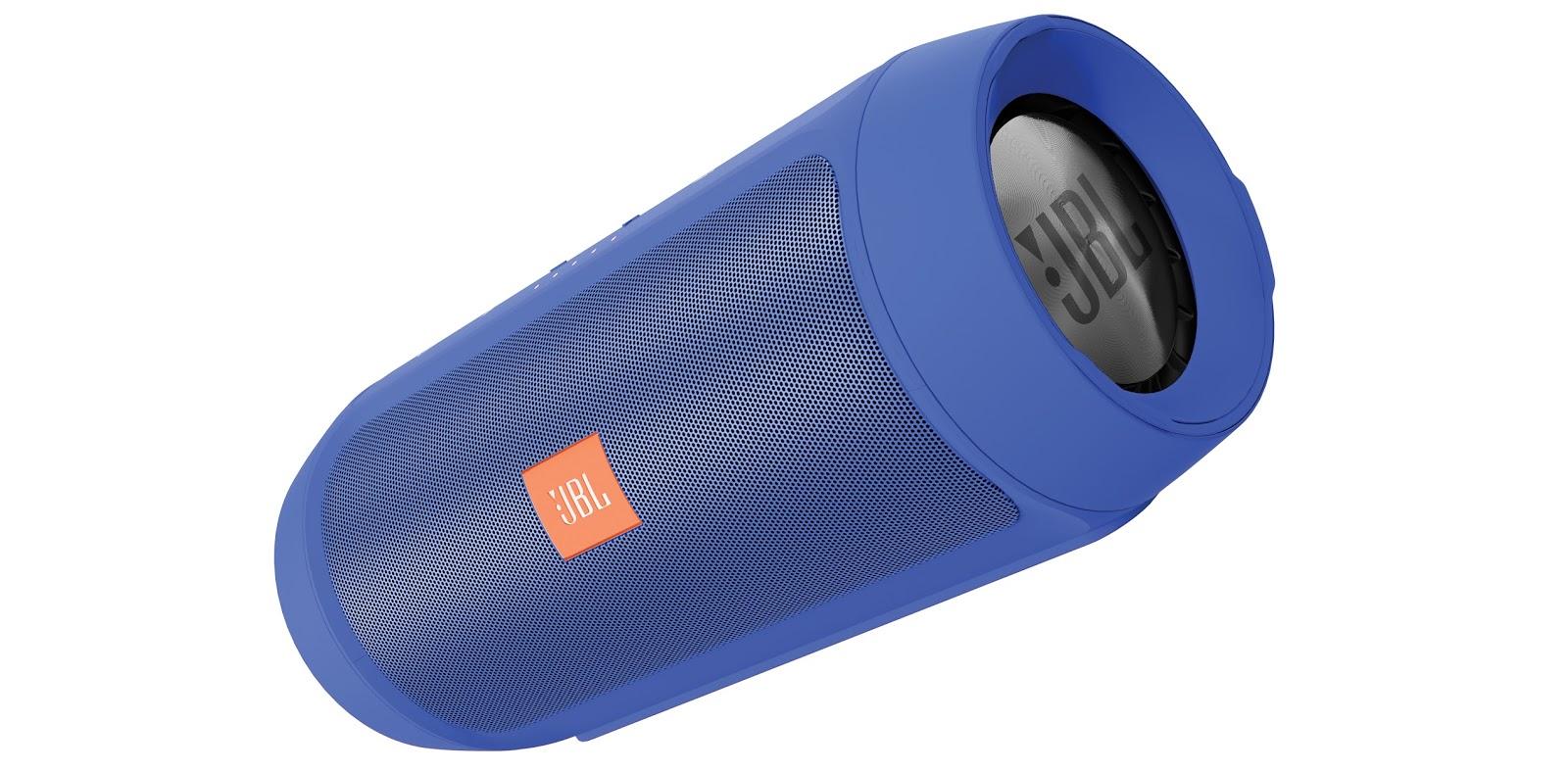 JBL Charge 2+ Odporny na zachlapania bezprzewodowy głośnik Bluetooth z akumulatorem Kolor: Niebieski Polska Gwarancja