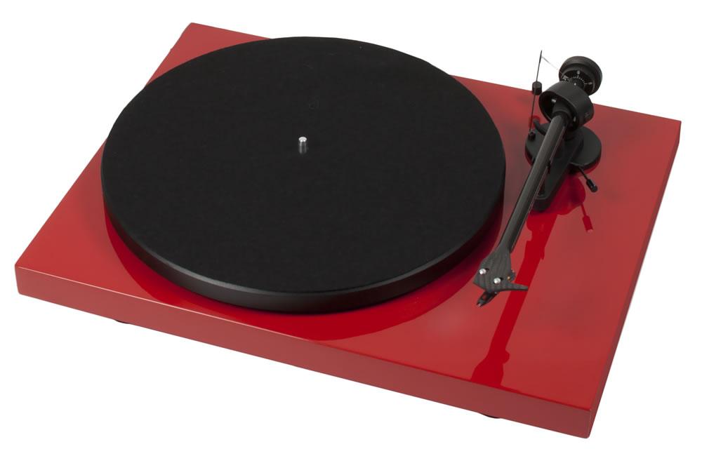Pro-Ject Debut Carbon Phono USB DC (DebutCarbon) Gramofon analogowy z wyjściem USB + wkładka Ortofon OM10 Kolor: Czarny Polska Gwarancja