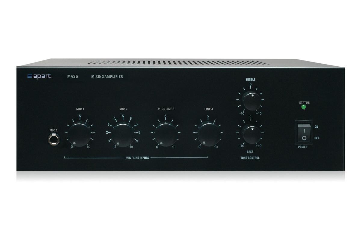 Apart Audio MA35 Kompaktowy wzmacniacz miksujący 35W/100V Polska Gwarancja