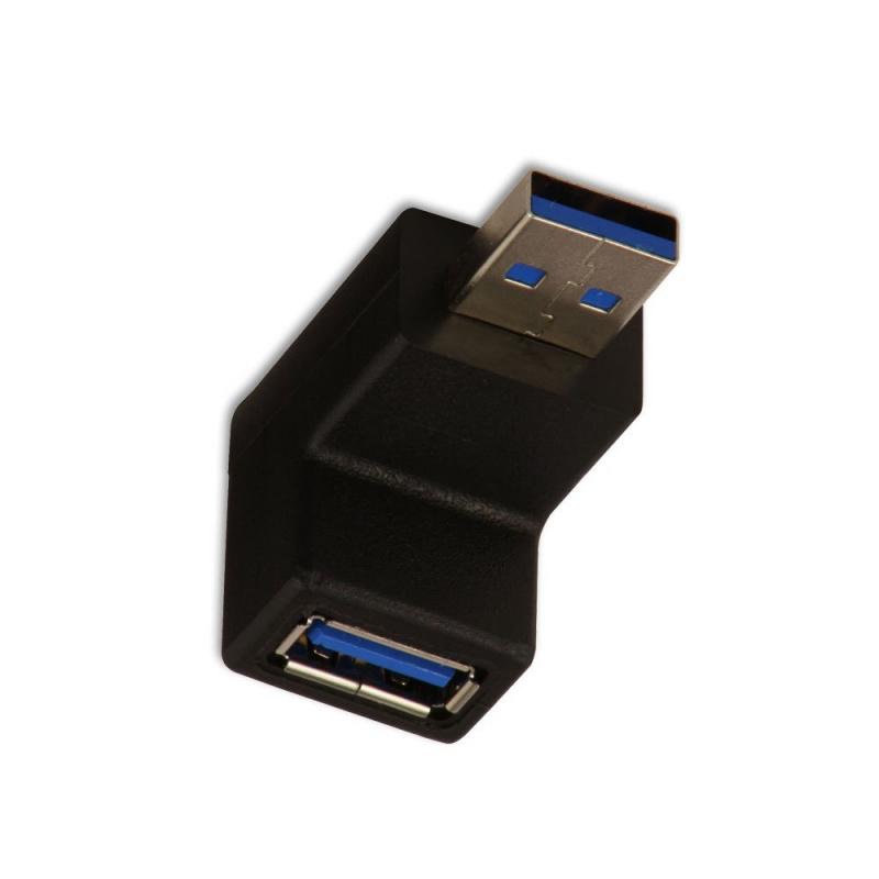 Lindy 71260 Kątowy adapter (przejściówka) dolny USB 3.0 A wtyk - A gniazdo  Polska Gwarancja