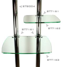 Półka szklana 31x47cm do wózka na TV LCD/Plazma B-tech BT7164 Polska Gwarancja