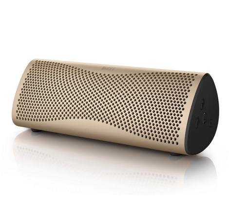 KEF MUO Bezprzewodowy głośnik przenośny Bluetooth 4.0 z aptX Kolor: Horizon Gold Polska Gwarancja