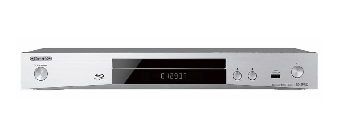 Onkyo BD-SP353 (BDSP353) Odtwarzacz Blu-ray/DVD z funkcjami sieciowymi Kolor: Jasny Polska Gwarancja