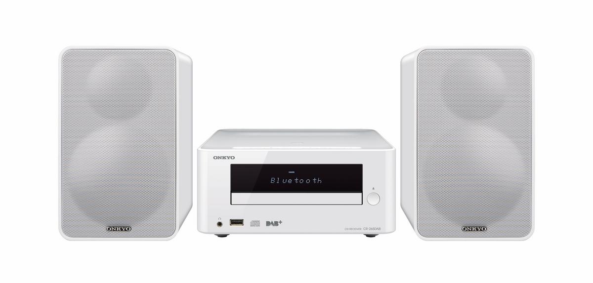 Onkyo CS-265DAB (CS265DAB) Zestaw stereo (miniwieża) z Bluetooth, USB i radiem DAB+ Polska Gwarancja