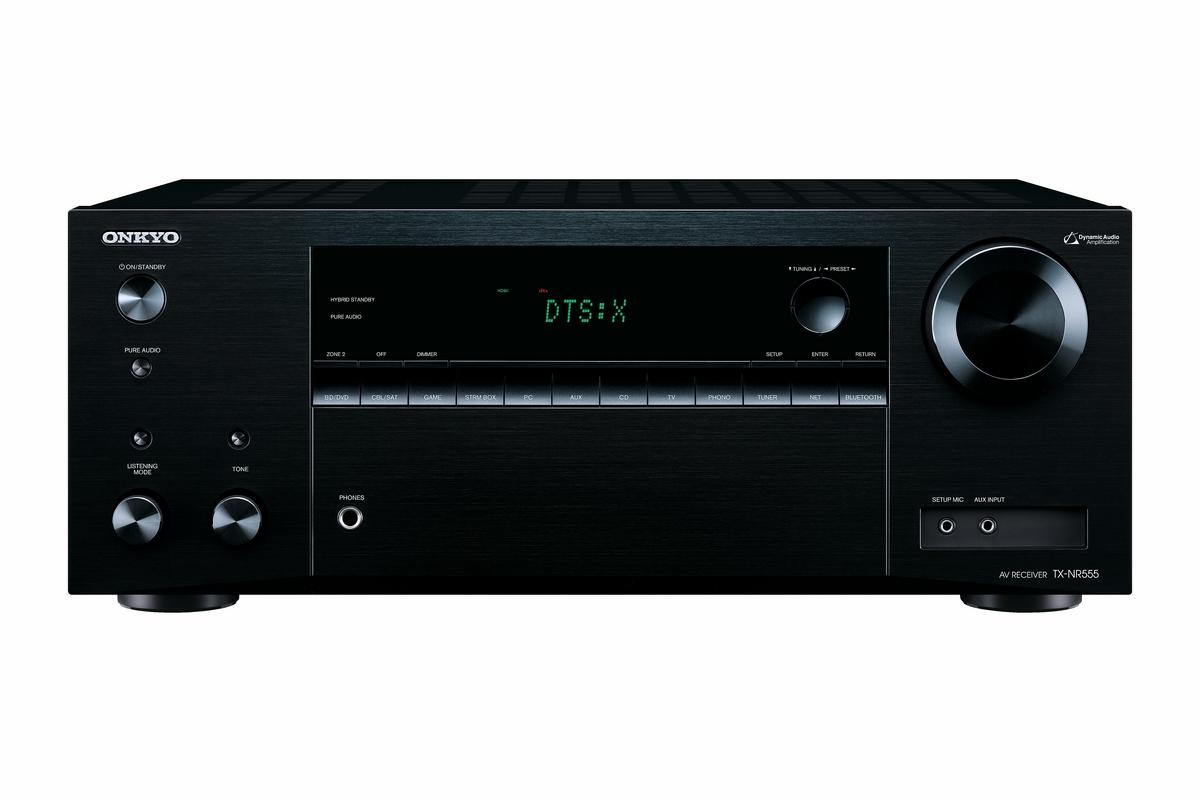 Onkyo TX-NR555 (TXNR555) Amplituner kina domowego 7.2 z Dolby Atmos i DTS:X Kolor: Ciemny Polska Gwarancja