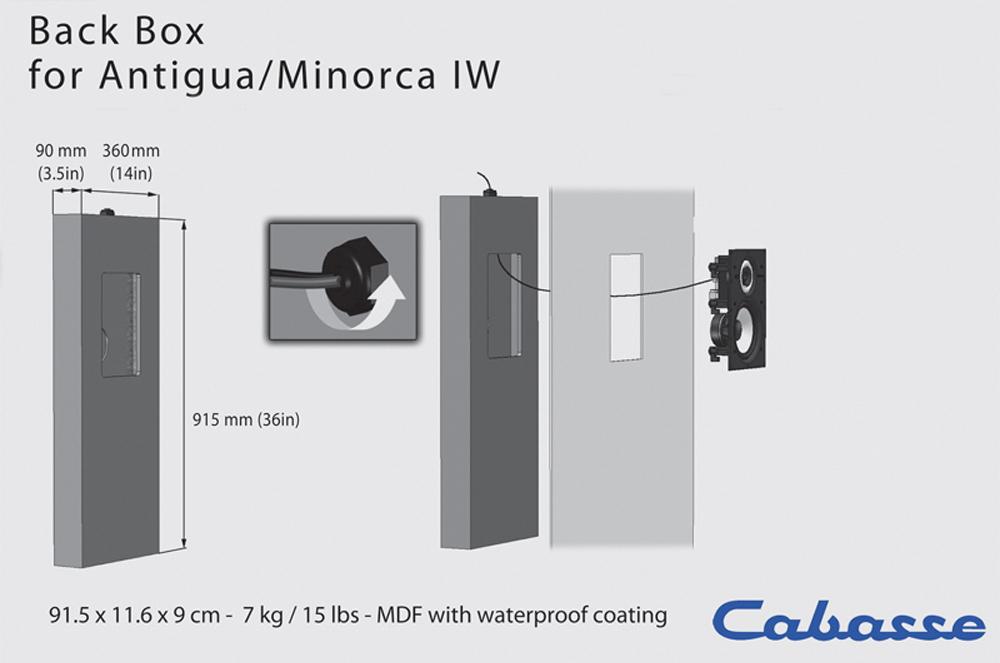 Cabasse Obudowa (skrzynia montażowa) do głośników instalacyjnych Antigua IW / Minorca IW Polska Gwarancja