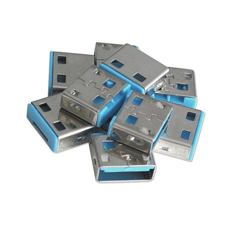 Lindy 40462 Bloker (blokada) portu USB niebieski - 10 sztuk (bez klucza) Polska Gwarancja