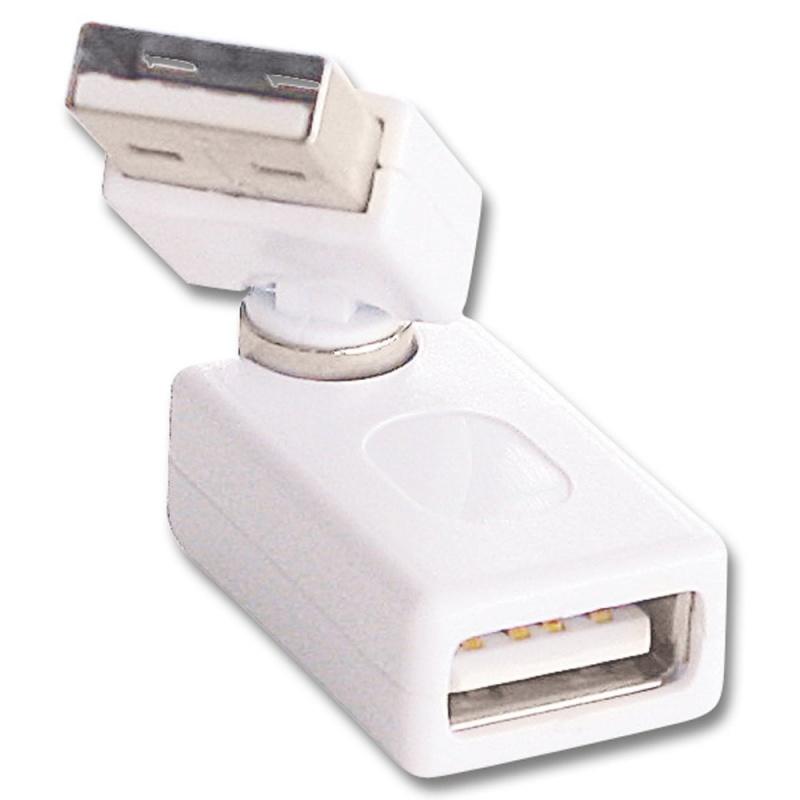 Lindy 70339 Przejściówka (adapter) USB A wtyk - USB a gniazdo kątowa 360 stopni Polska Gwarancja