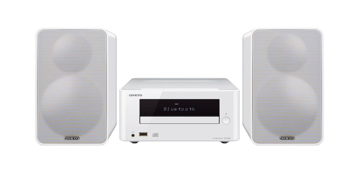 Onkyo CS-265 (CS265) Zestaw stereo (miniwieża) z Bluetooth, USB Kolor: Biały Polska Gwarancja