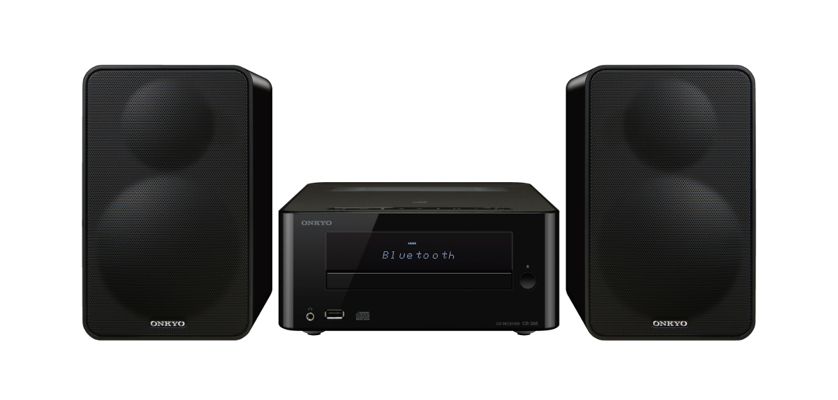 Onkyo CS-265 (CS265) Zestaw stereo (miniwieża) z Bluetooth, USB Kolor: Czarny Polska Gwarancja