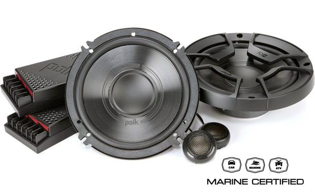 Polk Audio DB6502 (DB 6502) zestaw głośników średniotonowych 2x6.5 oraz wysokotonowych 2x0.75cala car audio (samochodowych) ze zwrotnicami i certyfika