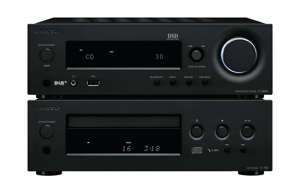 onkyo bookshelf stereo system. onkyo cs-n 1075 (csn1075) bookshelf stereo system